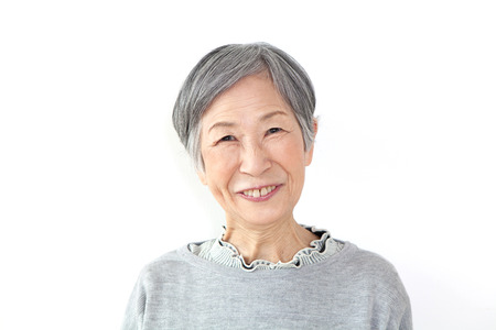 高齢女性の肖像画