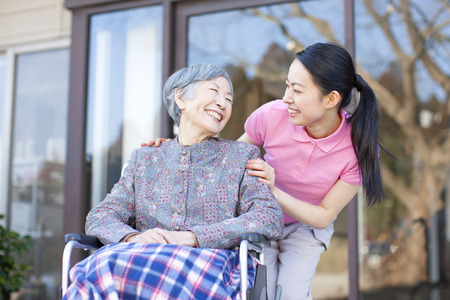 nursing assistant: Grandma took care and wheelchairs