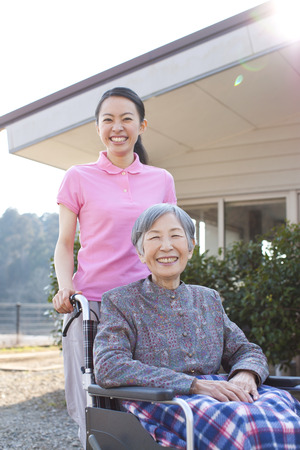 social work aged care: Grandma took care and wheelchairs