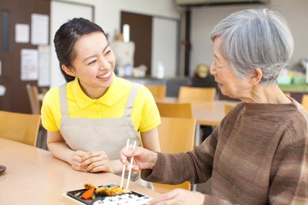 Granny eats your lunch Standard-Bild