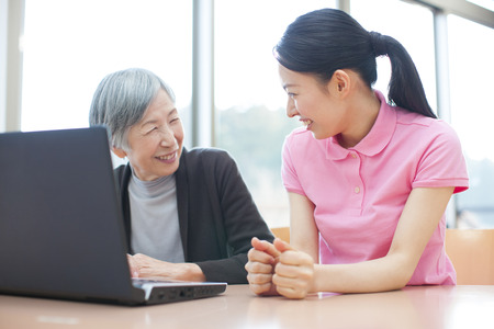 social work aged care: Caregivers who see the laptop and my grandma