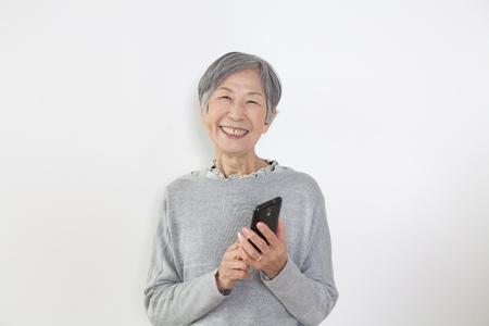 health care facility: Grandma with a smartphone