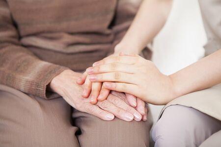 Caregivers hand