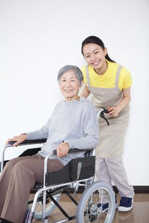 caretaker: Grandma took care and wheelchairs