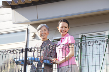 caregivers: Caregivers balcony overlooking and Grandma
