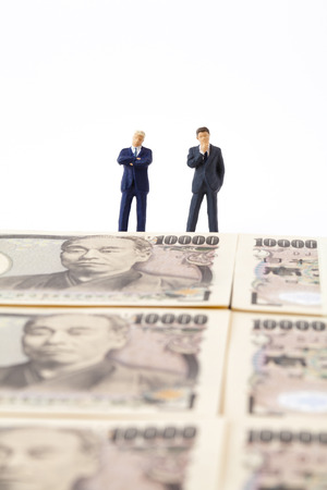 trading questions: See the WAD businessmanfiggia Stock Photo