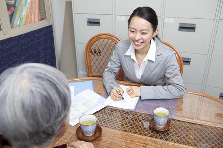 caretaker: Senior women discuss care plans