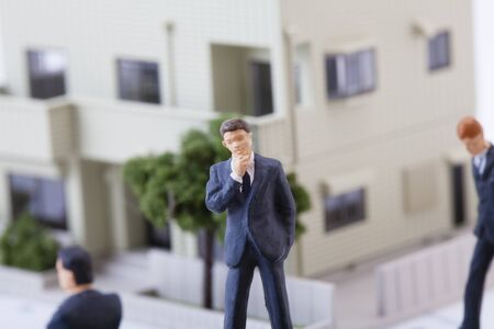 to think about: Think about the real estate business figures Stock Photo