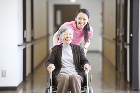 health care facility: Grandma took care and wheelchairs