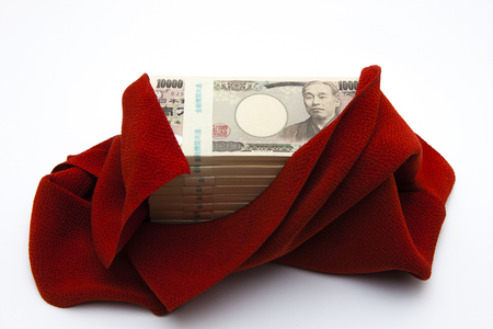 wrapped: Cash wrapped in a cloth