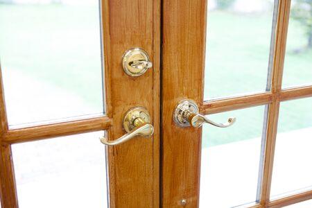 hinged: Hinged door Stock Photo