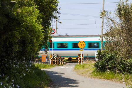 railroad crossing: Railroad crossing of Kisei Main Line