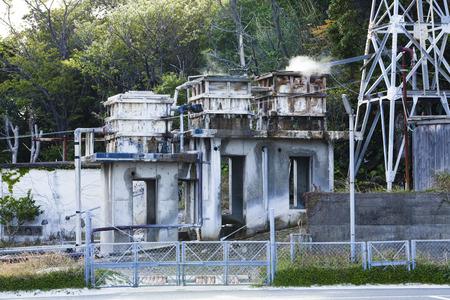 pumping: Onsen pumping facility Stock Photo