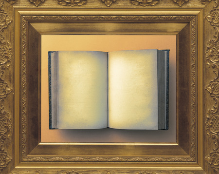 antique books: Frame and antique books Stock Photo
