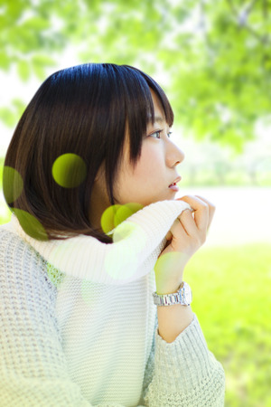 neatness: Women stare fresh green Stock Photo