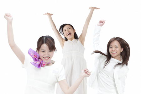cheer full: Jumping women