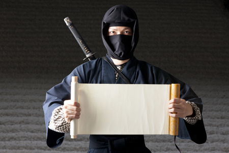 ninjutsu: Ninja with a scroll