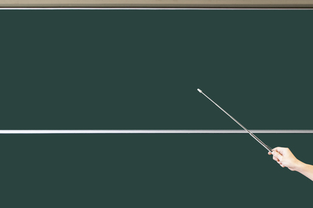 refers: Blackboard and pointing stick