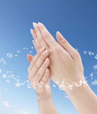 手肌の水分 写真素材