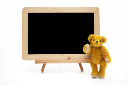 margin of safety: Blackboard and teddy bear