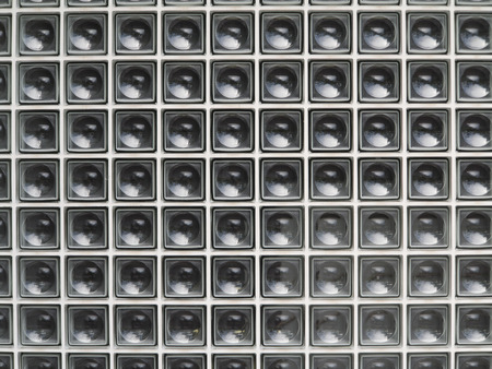 glass block: Wall of glass block