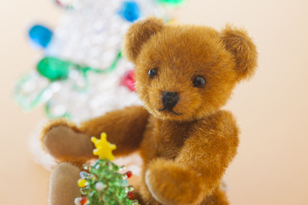 osos navide�os: Osos de peluche Beb� y �rbol de navidad