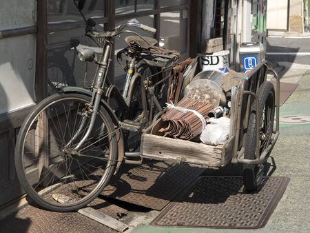 sidecar: Bicycle with a sidecar
