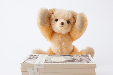 Teddy bear please 1 million yen 版權商用圖片 - 50461771