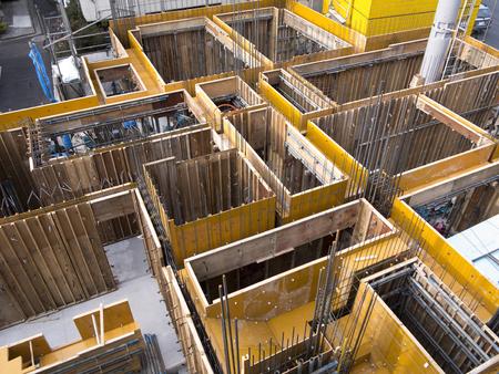Apartment building construction site