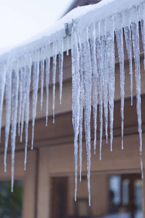edge of the ice: Eaves of icicles