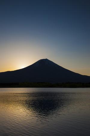 the silence of the world: The dawn of Mount Fuji from Lake Tanuki