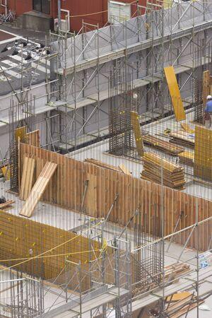 大型マンション建設 写真素材