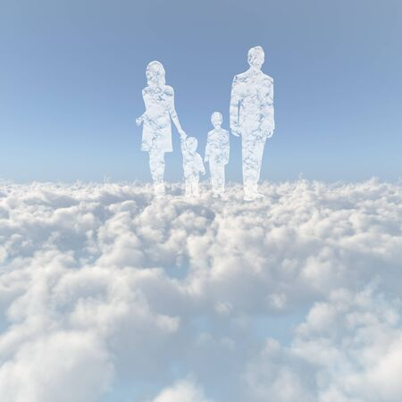 children of heaven: Sea of clouds and the family of cloud Stock Photo