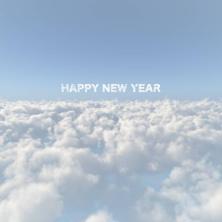 firmament: Sea of clouds and New Year image Stock Photo