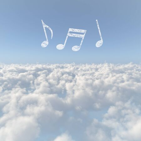 firmament: Sea of clouds and a note of clouds Stock Photo