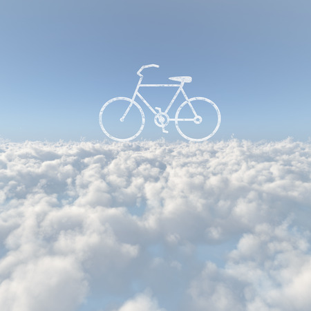Sea of clouds and bicycle cloud