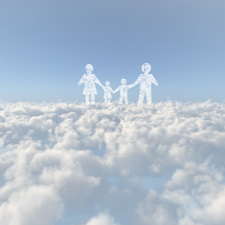 Sea of clouds and the family of cloud Stock Photo