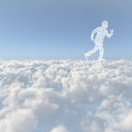 Circumstance: Men of clouds running a sea of clouds