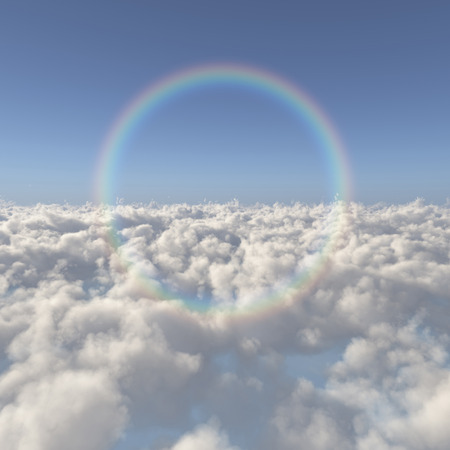 firmament: Sea of clouds and a rainbow