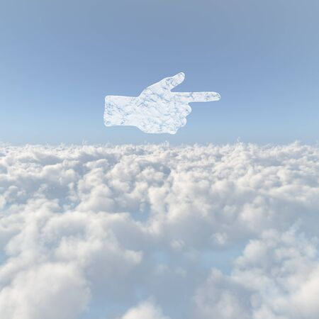 firmament: Sea of clouds and pointing Stock Photo