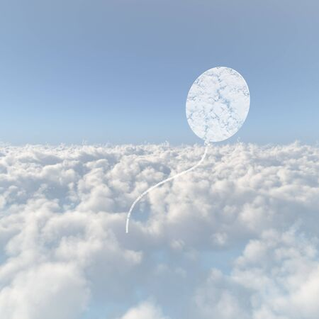 Sea of clouds and balloons cloud