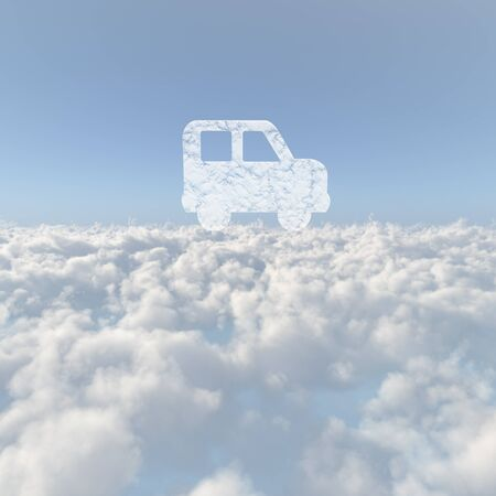 Sea of clouds and car cloud