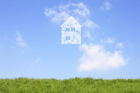 housing lot: Grassland and home cloud
