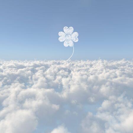 yotsuba: Clouds sea of clouds and Yotsuba