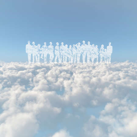Sea of clouds and the person of the cloud
