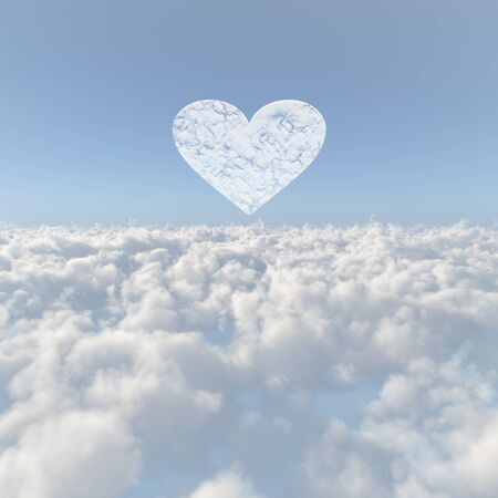 firmament: Sea of clouds and the Heart of clouds Stock Photo
