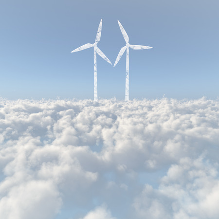 firmament: Sea of clouds and windmill clouds