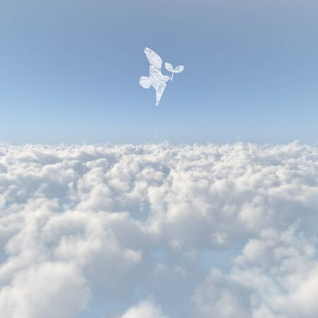 firmament: Sea of clouds and birds and Futaba