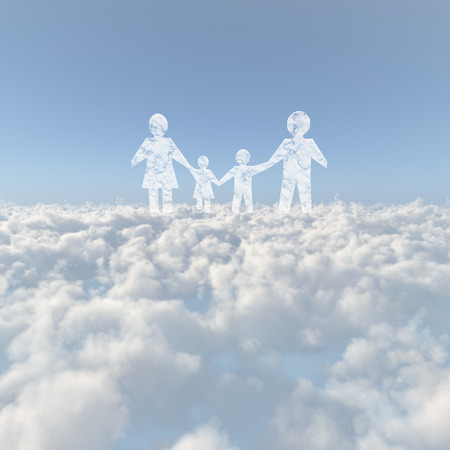firmament: Sea of clouds and the family of cloud Stock Photo