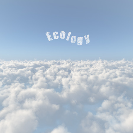 Sea of clouds and the ecology of the cloud Stock Photo